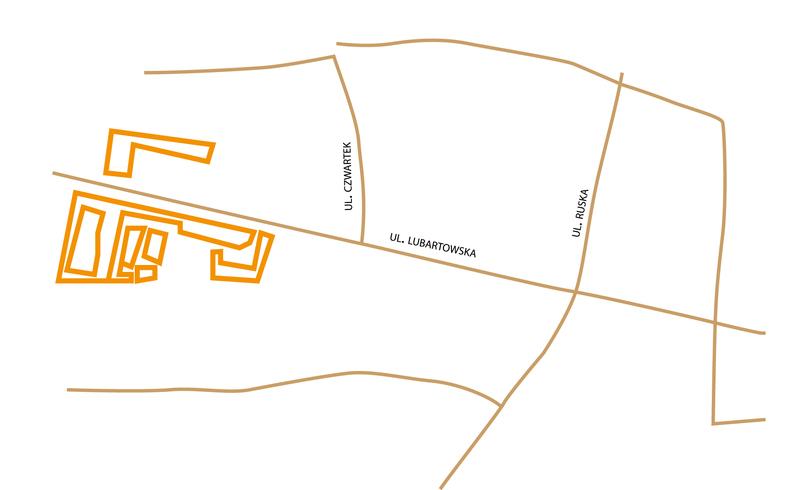 Położenie nieruchomości fabryki W.Hessa przy ul. Lubartowskiej