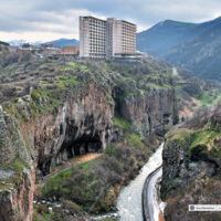 Jermuk - uzdrowisko - Armenia Dolina rzeki Arpa