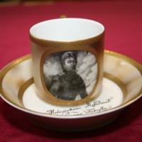 Kopia filiżanki ze spodkiem z portretem Stanisława Zamoyskiego