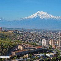 Widok na Ararat 5137 m - Armenia Erewań