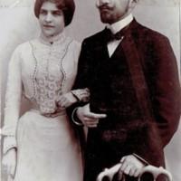 Olga (z domu Hess) i Klemens Borowscy, Lublin 1904 r.