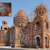 Katedra IV-VII w., dzdzwonnica XVII w. - Armenia Eczmiadzyn