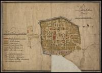Mapa Tomaszowa Lubelskiego z roku 1810(?)
